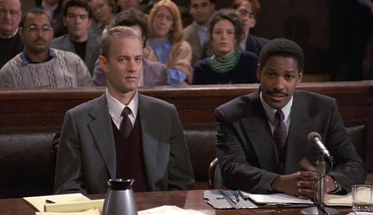 Tom Hans y Denzel Washington en una escena de